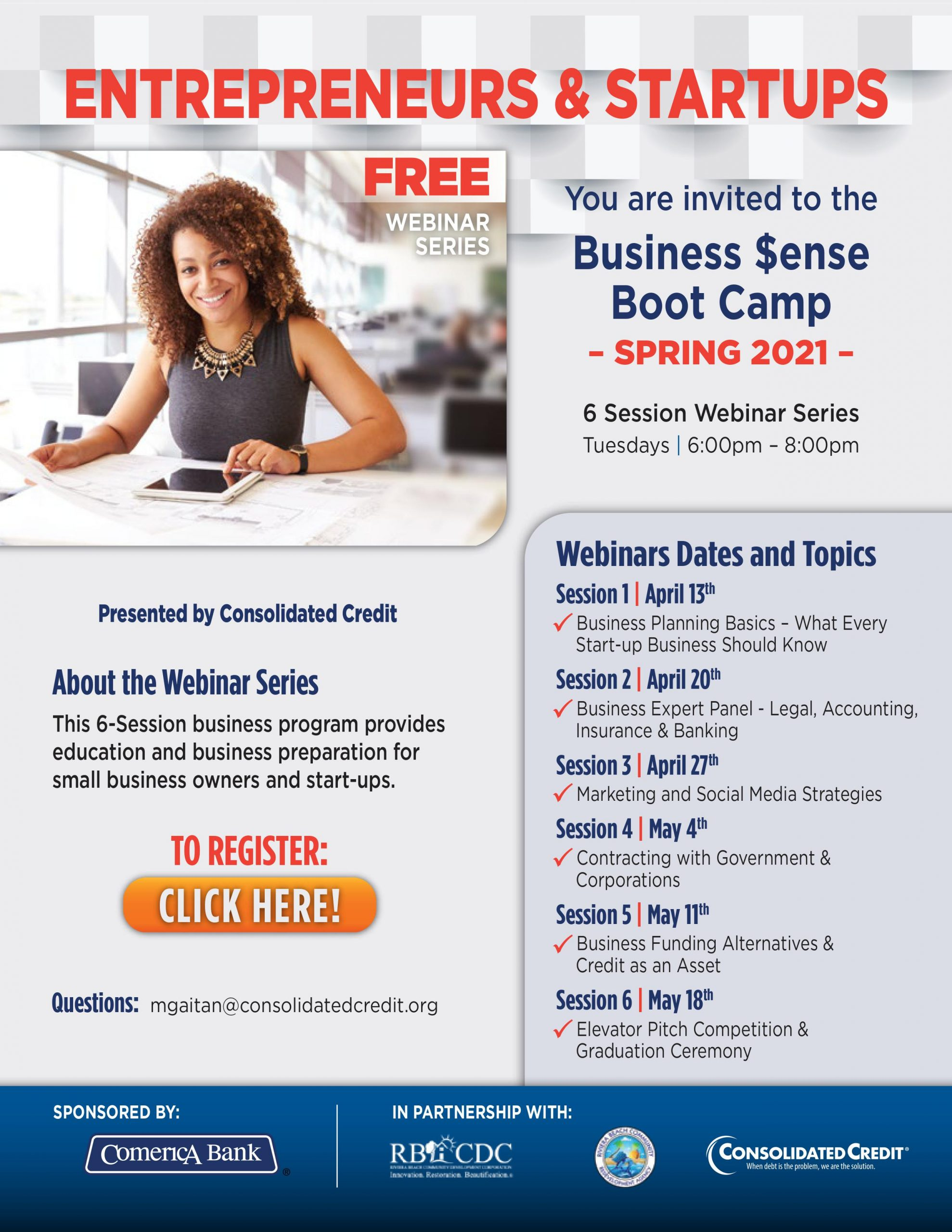 FREE Business $ense Boot Camp Webinar Series